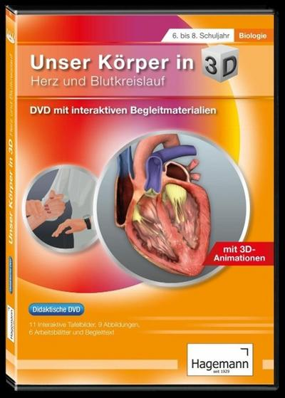 Didaktische DVD Unser Körper in 3D - Herz und Blutkreislauf. DVD-ROM