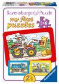 Bagger, Traktor und Kipplader. My first puzzle - Rahmenpuzzle 3 x 6 Teile