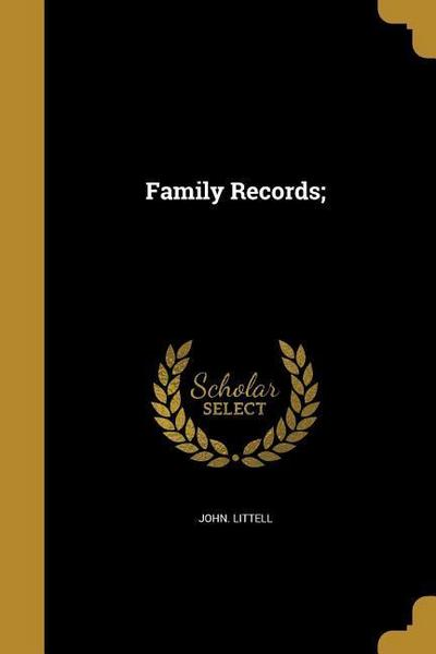 FAMILY RECORDS