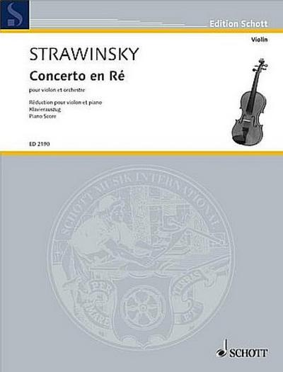 Concerto en Ré für Violine  und Orchester : für Violine und Klavier