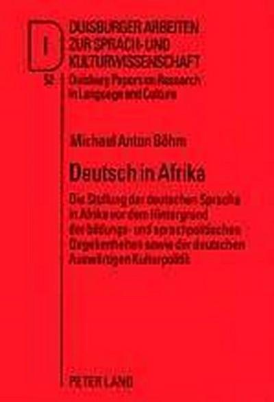 Deutsch in Afrika
