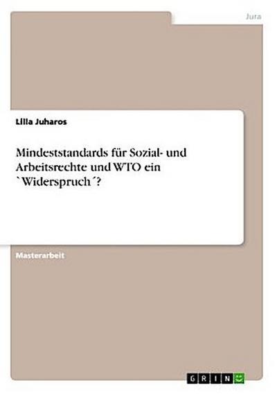 Mindeststandards für Sozial- und Arbeitsrechte und WTO ein `Widerspruch ?