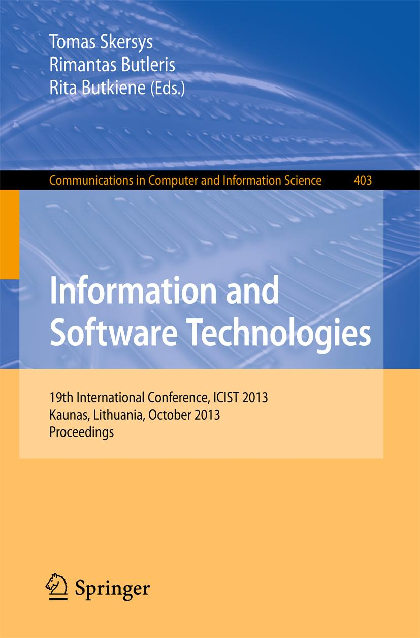 Information and Software Technologies Rita Butkiene