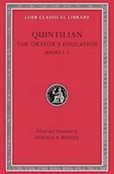 The Orator's Education, Volume II: Books 3-5