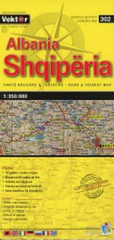 Albanien Straßenkarte 1 : 350 000  GPS