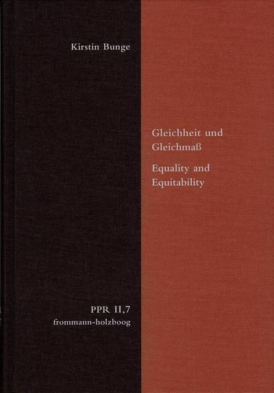 Gleichheit und Gleichmaß. Equality and Equitability
