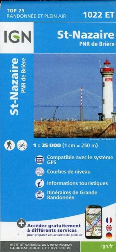 Saint-Nazaire 1 : 25 000