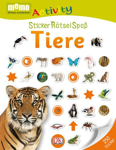 memo Activity. Tiere: StickerRätselSpaß