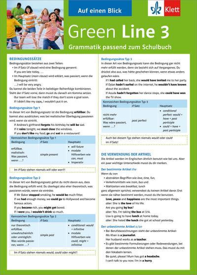 Green Line 3. Alles auf einen Blick. Grammatik