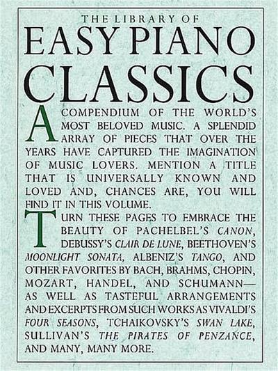 Library Of Easy Piano Classics: Noten, Sammelband für Klavier (Library of Series)