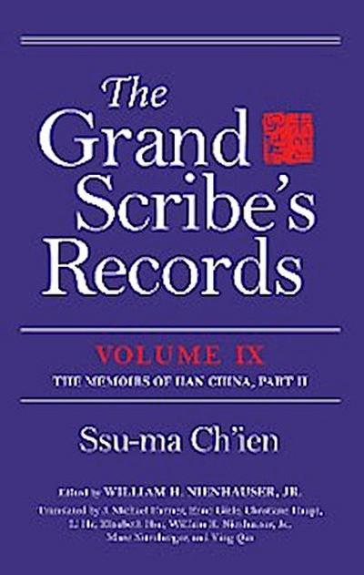 The Grand Scribe's Records, Volume IX