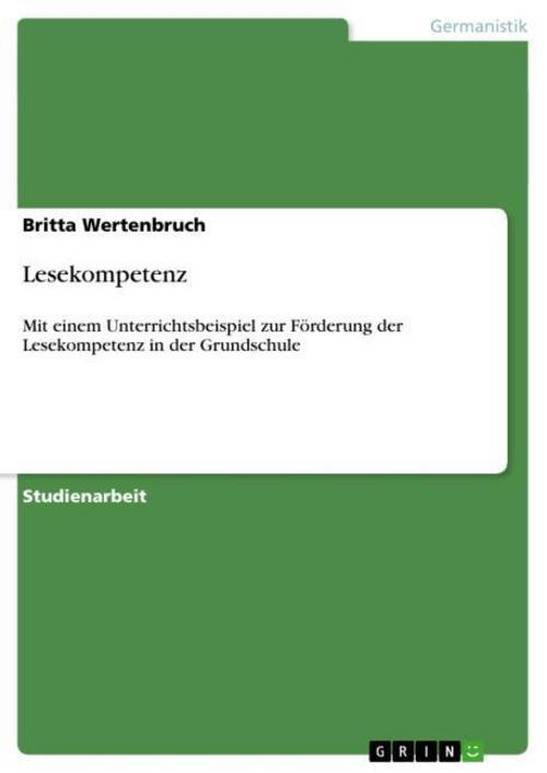 Lesekompetenz Britta Wertenbruch