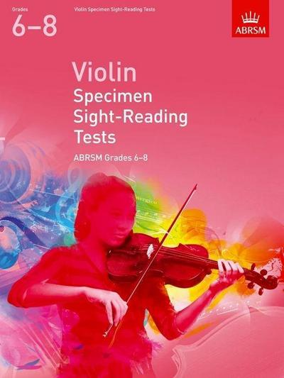 Violin Specimen Sight-Reading Tests, ABRSM Grades 6-8