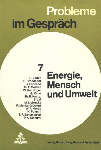 Energie. Mensch und Umwelt