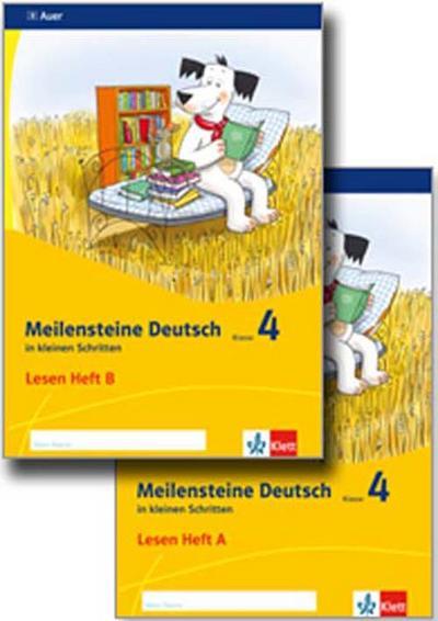 Meilensteine. Deutsch in kleinen Schritten. Lesestrategien Paket Heft 1-2. Klasse 4. Ausgabe ab 2017