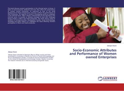 Socio-Economic Attributes and Performance of Women owned Enterprises