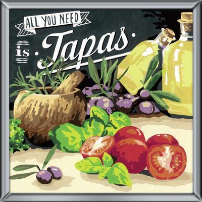 Ravensburger Spieleverlag 29015 - Tapas - Malen nach Zahlen, 30 x 30 cm