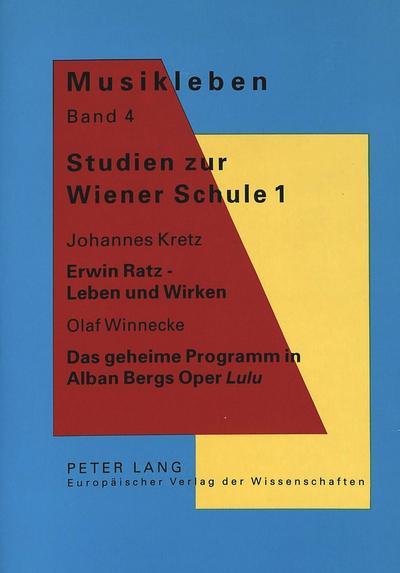Studien zur Wiener Schule 1