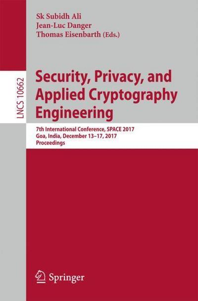 Security, Privacy, and Applied Cryptography Engineering