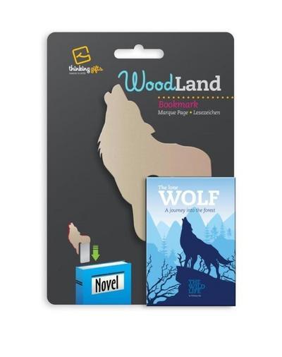 Woodland Lesezeichen Wolf: Einstecklesezeichen Tiermotiv Holzoptik - Bookchair - Bürobedarf & Schreibwaren, Englisch, , Einstecklesezeichen Tiermotiv Holzoptik, Einstecklesezeichen Tiermotiv Holzoptik