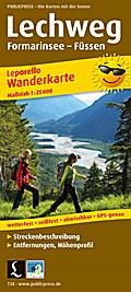 Wanderkarte Leporello Lechweg Formarinsee - F ...