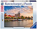 Regensburg, Blick auf die Altstadt.  Puzzle 1 ...