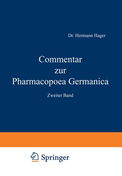 Commentar zur Pharmacopoea Germanica