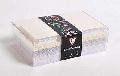 Farblich sortierte Umschläge & Karten Hochzeit als Set