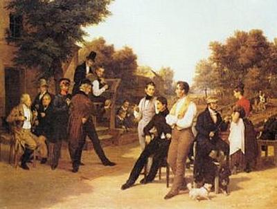 Friedrich Eduard Meyerheim - Die Kegelgesellschaft - 200 Teile (Puzzle)