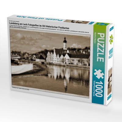 Ein Motiv aus dem Kalender Landsberg am Lech Fotografien im Stil historischer Postkarten (Puzzle)
