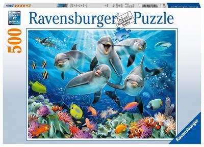 Delfine im Korallenriff 500 Teile