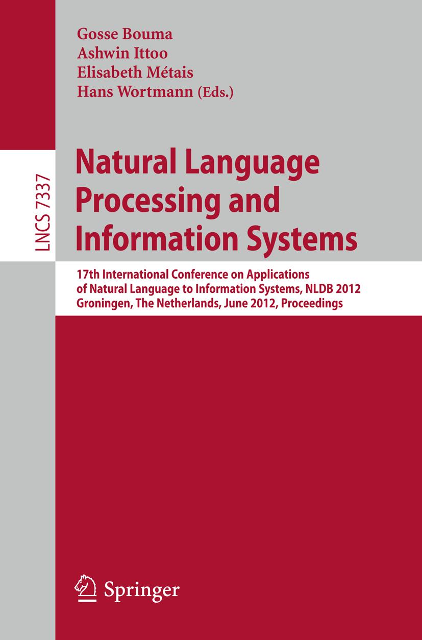 Natural Language Processing and Information Systems | Gosse  ... 9783642311772