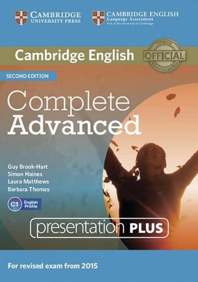 Complete Advanced - Second edition. Presentation Plus DVD ROM