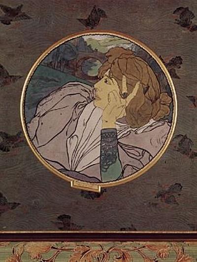 Georges de Feure - Die Stimme des Bösen oder Melancholie, Tondo - 100 Teile (Puzzle)