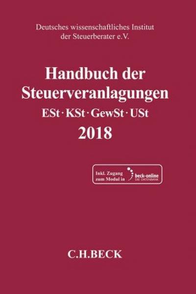 Handbuch der Steuerveranlagungen