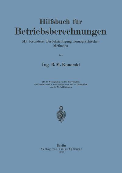 Hilfsbuch für Betriebsberechnungen