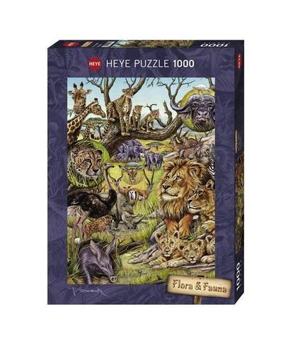 Heye 29661 - Standardpuzzle - Marion Wieczorek, Flora und Fauna Savannah, 1000 Teile