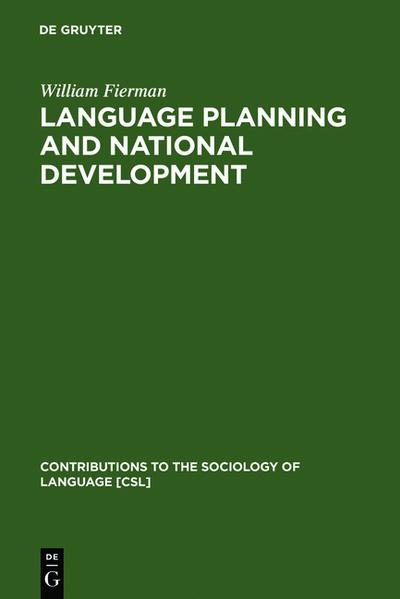 Language Planning and National Development