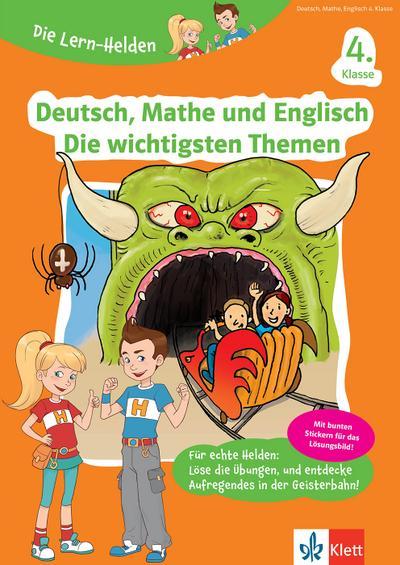 Die Lern-Helden Deutsch, Mathe und Englisch - Die wichtigsten Themen 4. Klasse