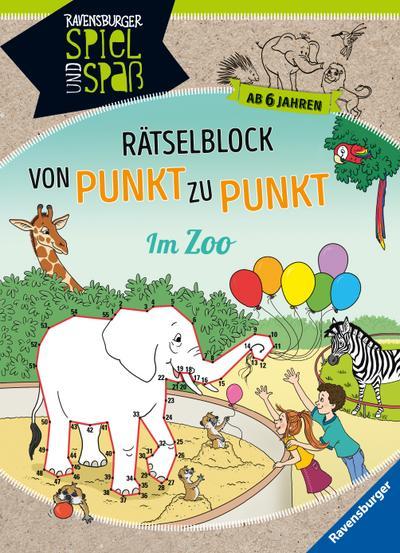 Rätselblock von Punkt zu Punkt: Im Zoo
