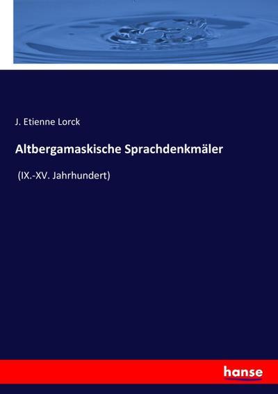 Altbergamaskische Sprachdenkmäler