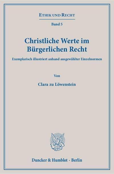Christliche Werte im Bürgerlichen Recht.