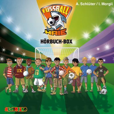 Fußball-Haie Hörbuch-Box, 5 Audio-CD