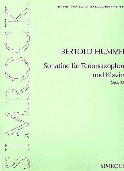 Sonatine op.35efür Tenorsaxophon und Klavier