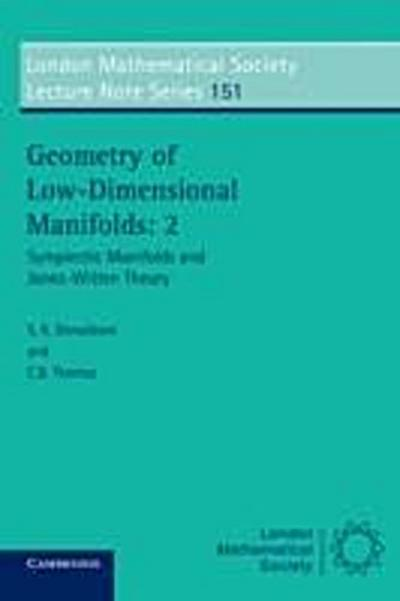 Geometry of Low-Dimensional Manifolds: Volume 2