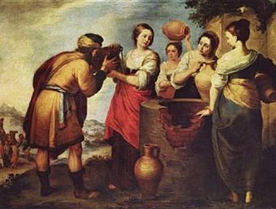 Bartolomé Esteban Perez Murillo - Rebecca und Eliezer - 100 Teile (Puzzle)