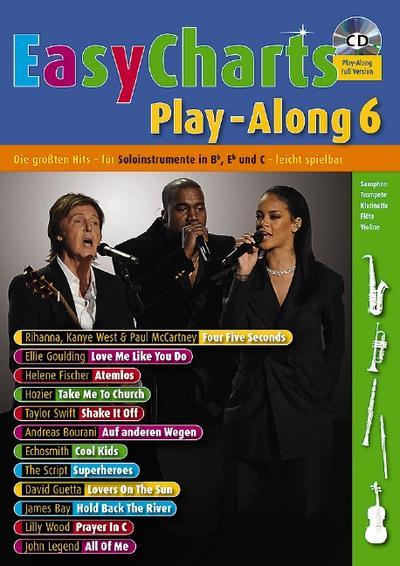 Easy Charts Play-Along, für Bb/Eb/C-Instrument, m. Audio-CD. Bd.6