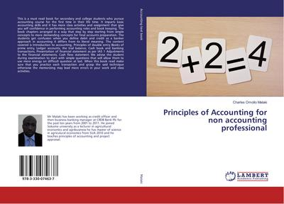 Principles of Accounting for non accounting professional