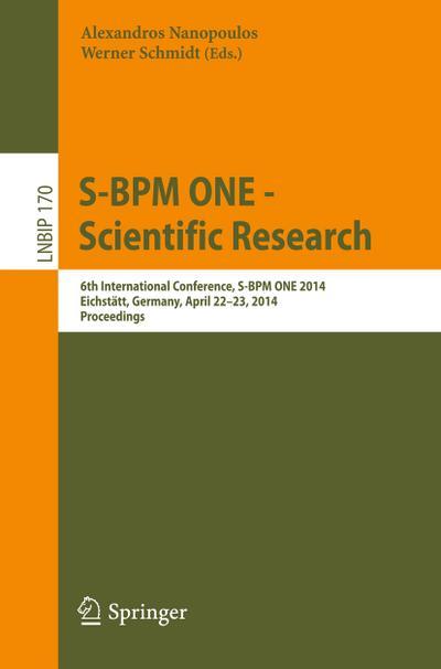 S-BPM ONE -- Scientific Research