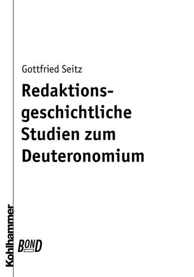 Redaktionsgeschichtliche Studien zum Deuteronomium [Gebundene Ausgabe] by Sei...